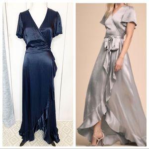 GHOST LONDON Phoebe Wrap Dress Bridesmaid BHLDN